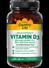 Country Life Vitamin D3 10,000 IU 60ct