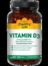 Country Life Vitamin D3 1,000 IU 200 softgels