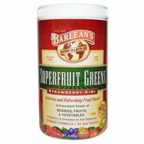 Barlean's Superfruit Greens Strawberry-Kiwi Powder Formula