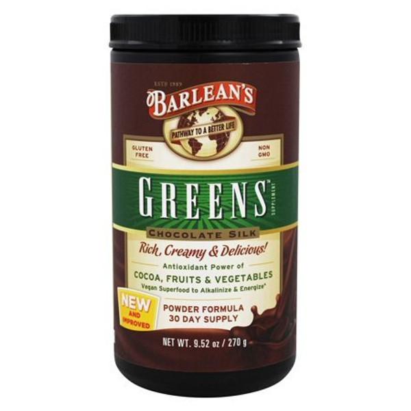 Barleans Organic Greens Chocolate Silk Powder Formula