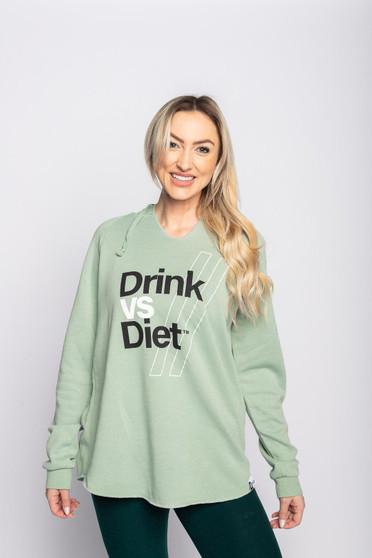 DrinkVs.Diet Hoodie *light fern green *