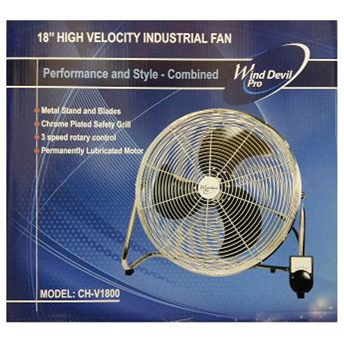 "Wind Devil Pro 18"" Floor Fan with 3 speeds"
