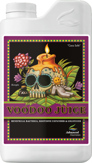 Voodoo Juice Get To The Root Of The Matter If you don't have big, healthy, robust root systems, a lot of your growing efforts will prove fruitless. That's because your plants' roots won't be able to maximize uptake, so a lot of the nutrients you feed them will go to waste. Now, imagine doubling their root size. Visualize those thick, extensive roots reaching out and sucking up energy and nutrients for vigorous growth – and ultimately bigger yields. Scientific tests on your high-value crops isolated 11 strains of plant growth-promoting rhizobacteria (PGPR) that help to expand root mass by up to 117%. This in turn increases nutrient absorption by up to 700%! Try it for yourself and you'll see an enormous difference. You may not see your root mass triple like one grower experienced, or witness meter-long roots like another – and your plants may not double in size, like others reported – but we can ensure your satisfaction with our world-famous Grower Guarantee: Either you love Voodoo Juice and the way it spikes up your yields, or you get all your money back.