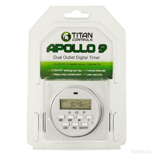 Titan Apollo 9 -Two Outlet Digital Timer