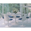 Ex Display - Replica Tulip 160cm Marble Oval Dining Table - PICK UP ONLY