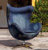 Industrial style of Replica Egg Chair - Blue Jeans Denim