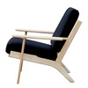 Replica Hans Wegner Plank Lounge-1-seater in Fabric with Natural Frame