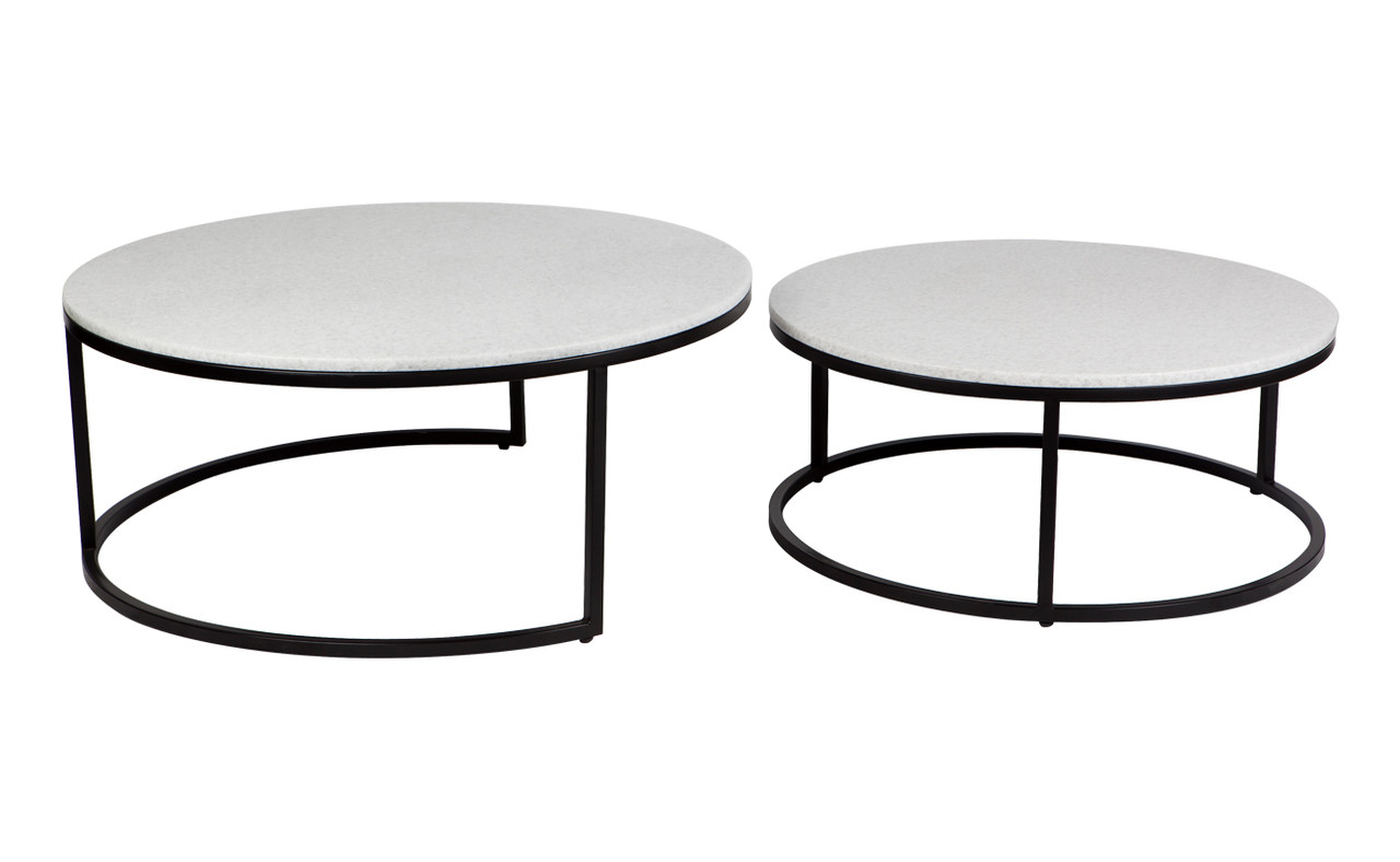 Picture of: Chloe Marble Nesting Coffee Table Black 2pc Cl Milano Republic Furniture