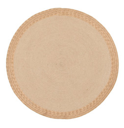 Milano Metallic Copper and Natural Jute Rug (ux)