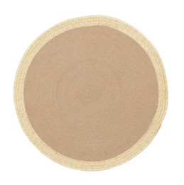Milano Metallic Gold and Natural Jute Rug (ux)