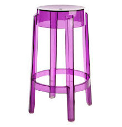 Replica Charles Ghost Stool - transparent purple
