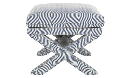 Candace Chevron Stool - Blue (cl)