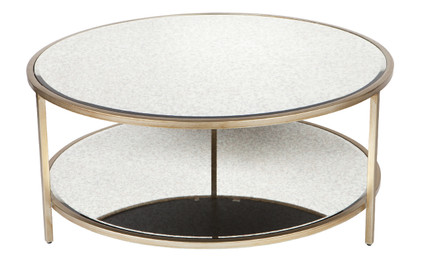 Cocktail Round Coffee Table - Antique Gold (cl)