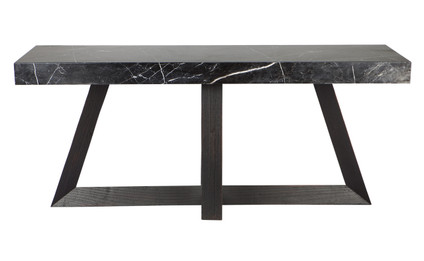 Ebony Marble Console Table - Black (cl)