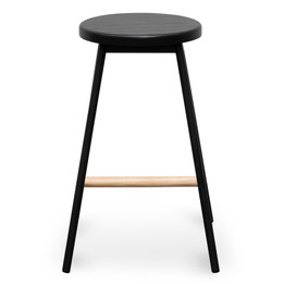 CBS2471-NH Black Timber Seat Bar Stool - Black Frame (cf)