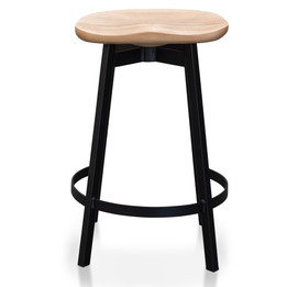 CBS2565-SU Bar Stool In Matt Black - Natural (cf)