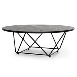 CCF2306-SD 100cm Coffee Table - Black Ash Veneer - Black Legs (cf)