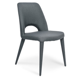 CDC2237-EI Fabric Dining Chair - Gunmetal Grey (cf)
