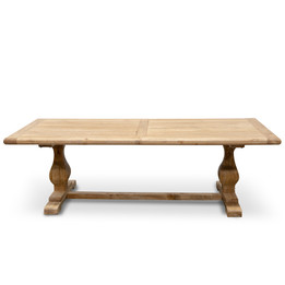 CDT2408 Elm Wood 2.4m Dining Table - Rustic Natural (cf)
