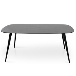 CDT2429-DW 1.8m Dining Table - Black Oak Veneer (cf)