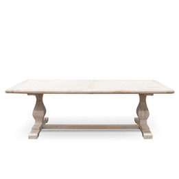 CDT2482 Dining Table 2.4m - Rustic White Washed (cf)