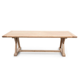 CDT2576 Reclaimed Elm Wood 2.4m Dining Table (cf)