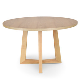 Zodiac 1.2m Round Dining Table - Natural (cf)