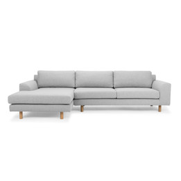 CLC2518-FA 3 Seater Left Chaise Sofa - Light Grey (cf)