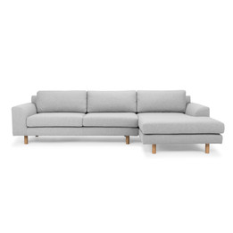 CLC2519-FA 3 Seater Right Chaise Sofa - Light Grey (cf)