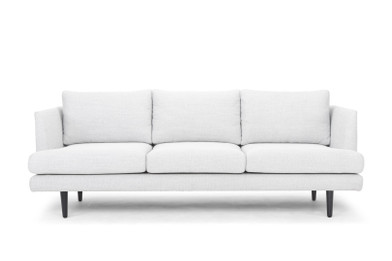 CLC722 3 Seater Sofa - Light Texture Grey with black legs (cf)
