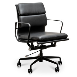 COC2624-YS Pad Management PU Leather Boardroom Chair in Black -... (cf)