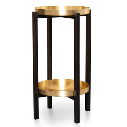 CST2119-OW Tray Side Table - Black Frame (cf)