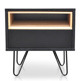 CST2127-KD Bedside Table - Black (cf)