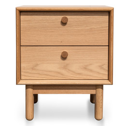 CST2324-VN 2 Drawer Side Table - Oak (cf)