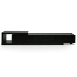 Dwell Scandinavian Lowline 2.4-3.07m Entertainment TV Unit - Black (cf)