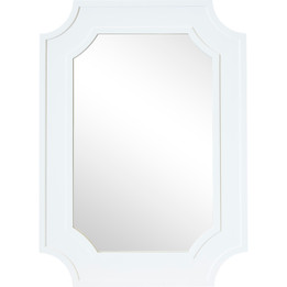 Bungalow Wall Mirror - White (cl)