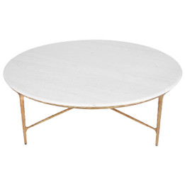 Heston Marble Coffee Table - Brass (cl)