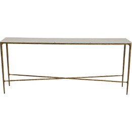 Heston Marble Console Table - Large Brass (cl)