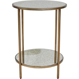 Cocktail Side Table - Antique Gold (cl)