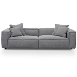 CLC2734-KSO 3 Seater Sofa with Cushion and Pillow - Oslo Grey (cf)
