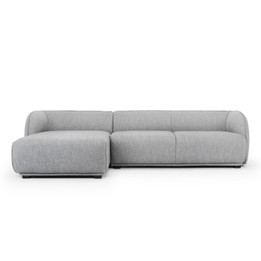 CLC2744-FA 3 Seater Left Chaise Sofa - Dark Texture Grey (cf)