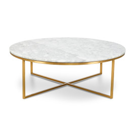 CCF1051-DW 100cm Round Marble Coffee Table (cf)