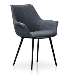 CDC2633-SEx2 - Nola Plywood Dining Chair - Charcoal Grey (cf)