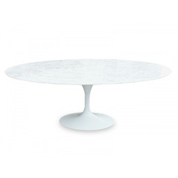 Replica Tulip Dining Table - Oval 2m Marble Dining Table (cf)