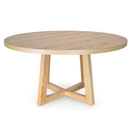 Zodiac 1.5m Round Dining Table - Natural (cf)