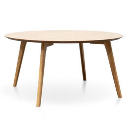 CCF2822-KD 90cm Round Coffee Table - Natural (cf)