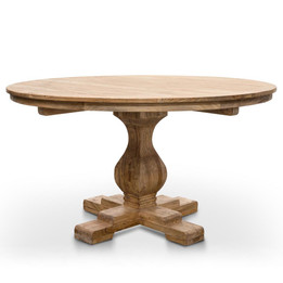 CDT2759 Round Dining Table 140cm - Rustic Natural (cf)