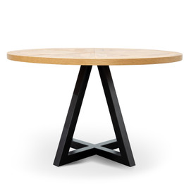 Percy Round Dining Table 1.25m - Oak (cf)