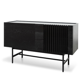 Onito 120cm Wooden Buffet Unit - Full Black (cf)