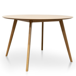 CDT2818-KD Round Dining Table - Natural (cf)